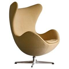 "Rare Matching Pair of Arne Jacobsen ""Egg"" Chairs, circa 1965"