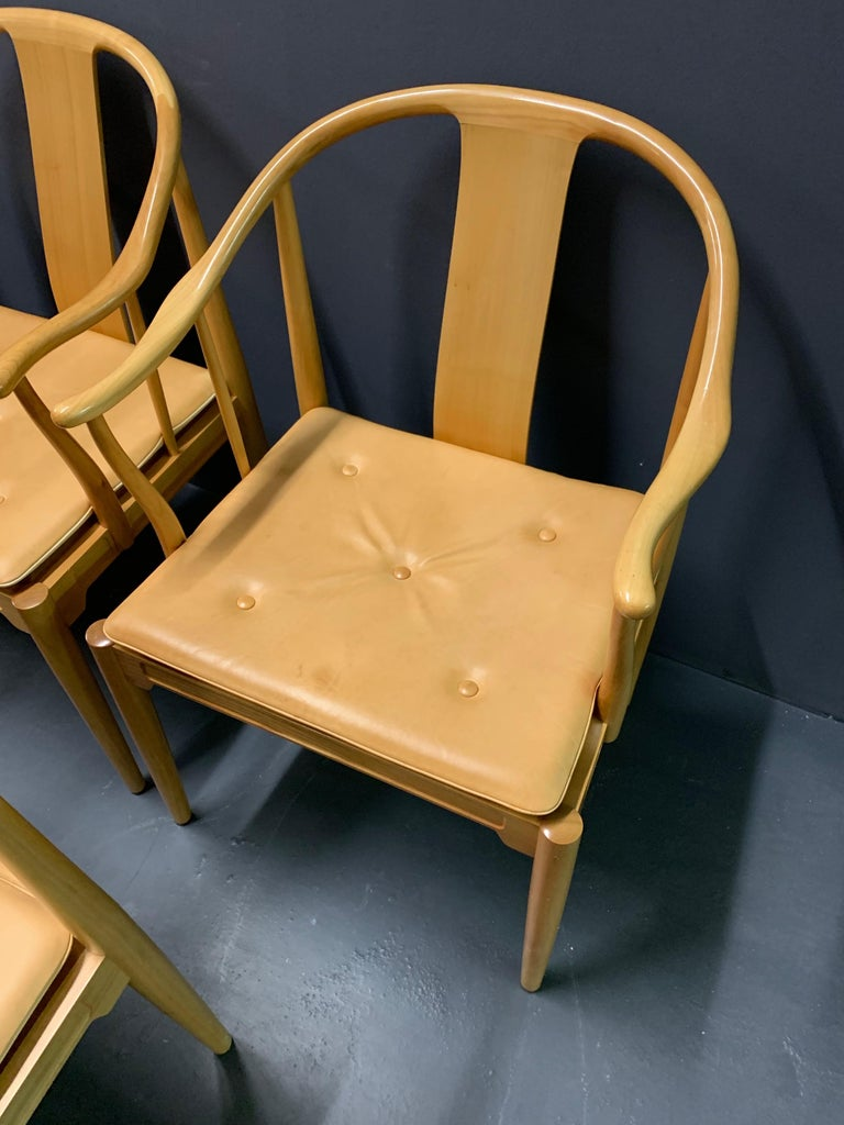 Rare Matching Set of 6 Chinese Dining Chairs by Hans Wegner For Sale 3