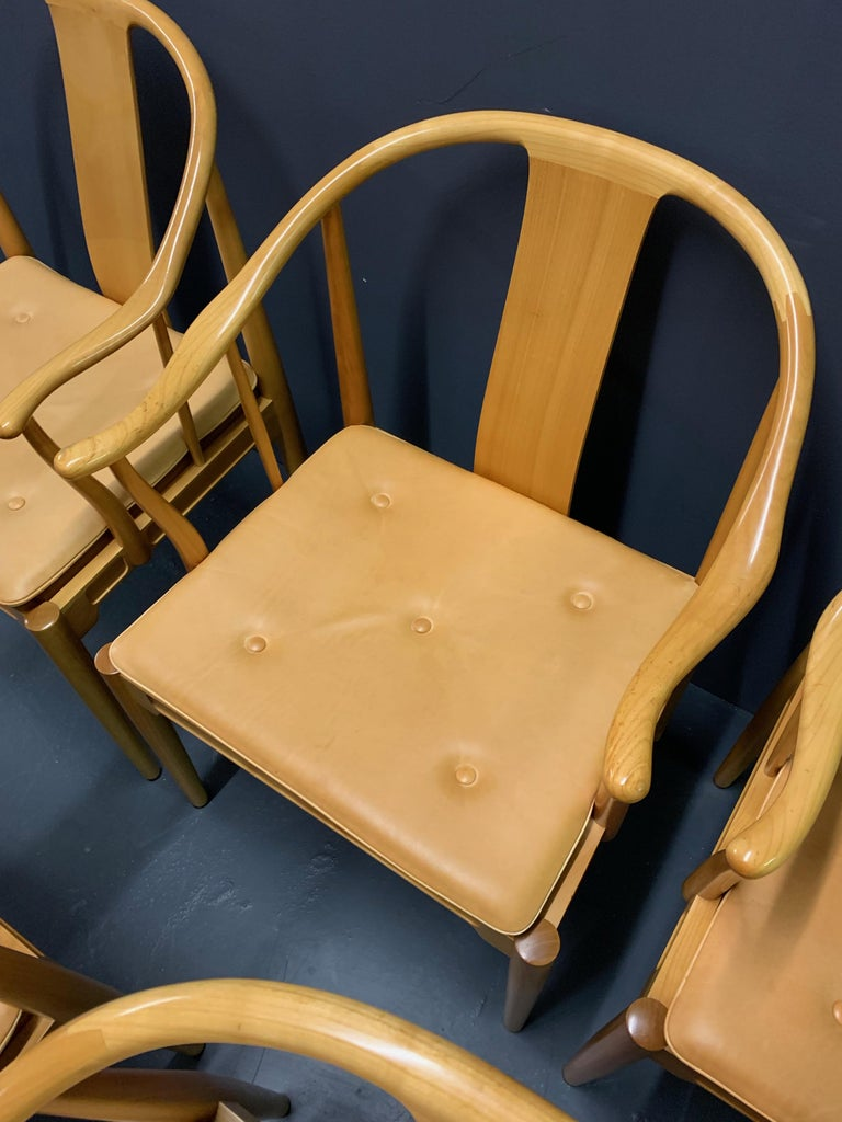 Rare Matching Set of 6 Chinese Dining Chairs by Hans Wegner For Sale 4