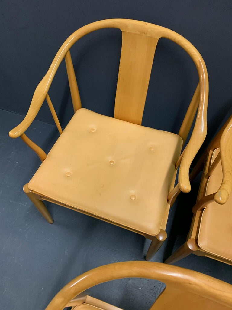Danish Rare Matching Set of 6 Chinese Dining Chairs by Hans Wegner For Sale
