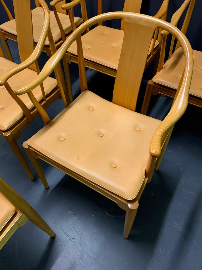 Rare Matching Set of 6 Chinese Dining Chairs by Hans Wegner For Sale 2