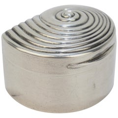 Rare Matthew Linwood Gilt Georgian English Sterling Silver Seashell Form Box