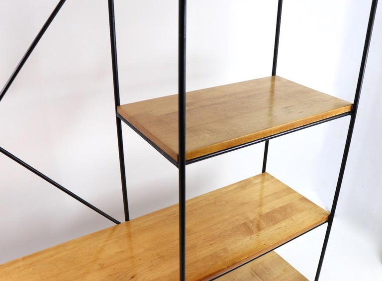Wrought Iron Rare McCobb Planer Group Bookcase Shelf For Sale