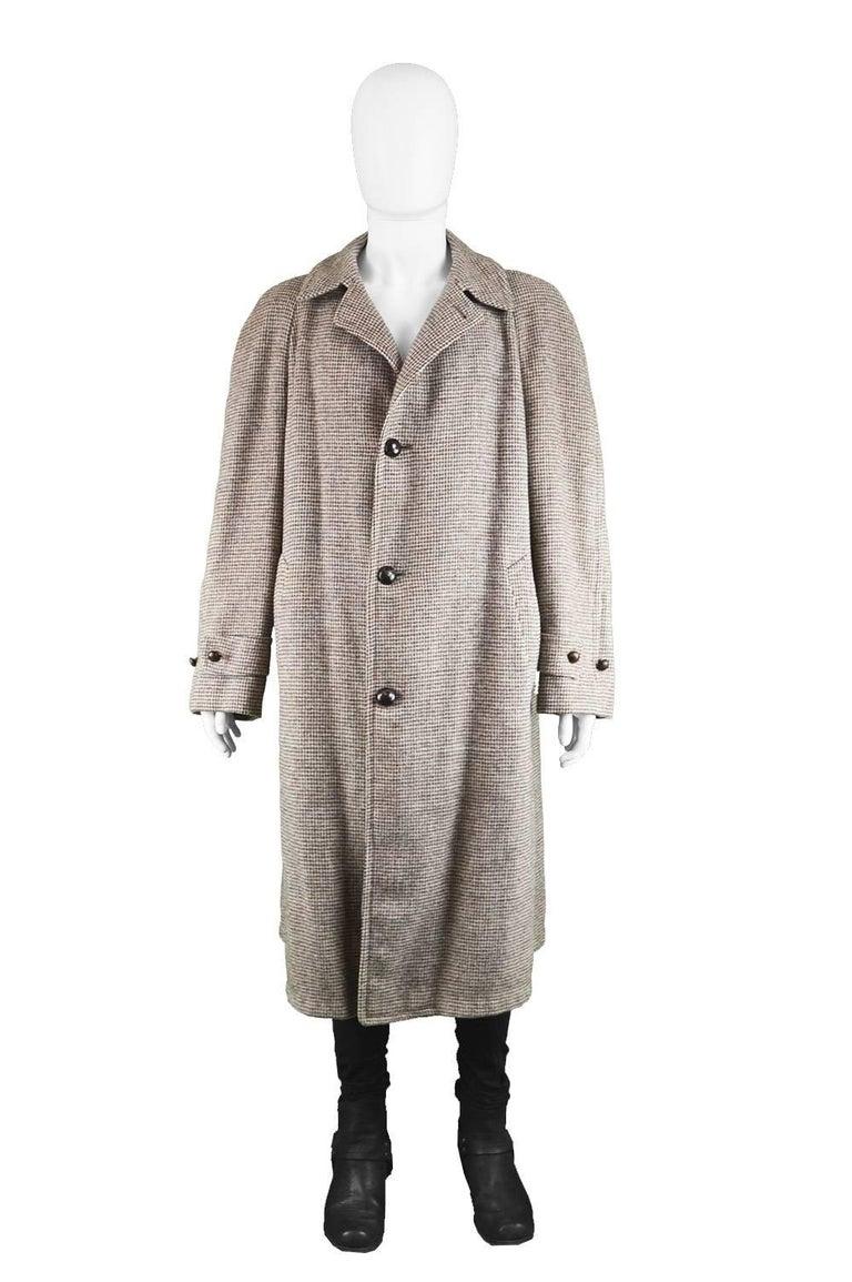 Men S Harris Wool Tweed Tartan Inverness Cape Coat 1950s