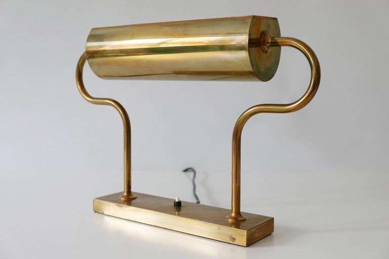 Rare Midcentury Brass Table Lamp or Desk Light by Florian Schulz, 1980s, Germany For Sale 6