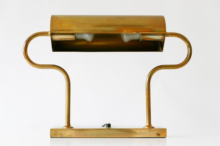 Rare Midcentury Brass Table Lamp or Desk Light by Florian Schulz, 1980s, Germany For Sale 10