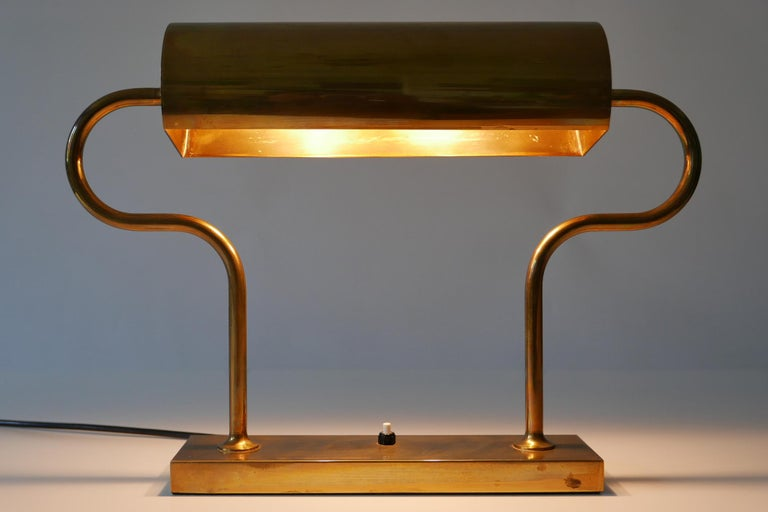 Rare Midcentury Brass Table Lamp or Desk Light by Florian Schulz, 1980s, Germany For Sale 11