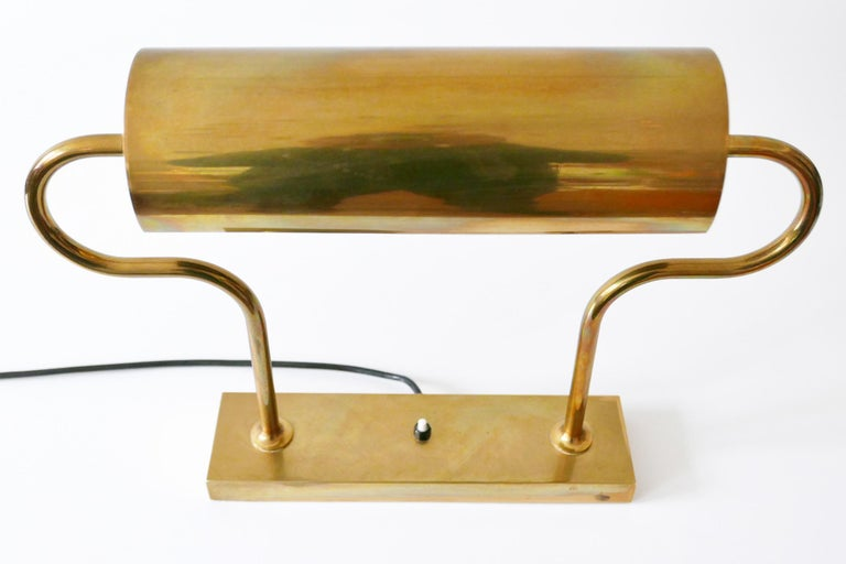 Rare Midcentury Brass Table Lamp or Desk Light by Florian Schulz, 1980s, Germany In Good Condition For Sale In Munich, DE