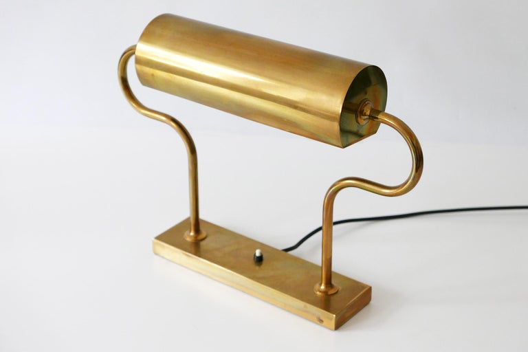 Late 20th Century Rare Midcentury Brass Table Lamp or Desk Light by Florian Schulz, 1980s, Germany For Sale