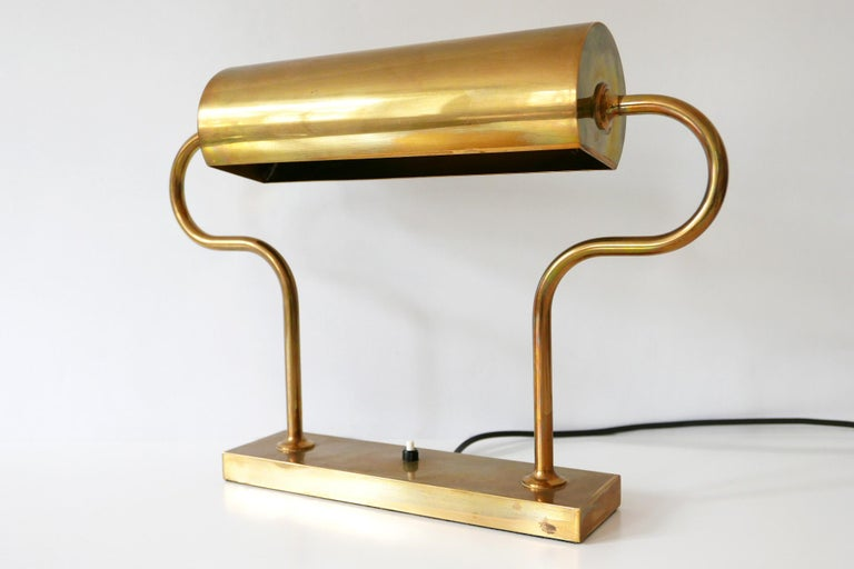 Rare Midcentury Brass Table Lamp or Desk Light by Florian Schulz, 1980s, Germany For Sale 3