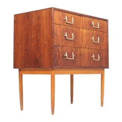 Rare Midcentury Chest in Rosewood, Designed by Mogens Lysell, Danish, 1950s