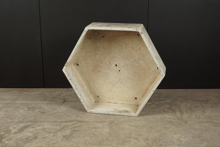 European Rare Midcentury Concrete Planter by Willy Guhl, Switzerland, circa 1950 For Sale