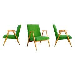 Rare Mid Century Modern Czech Kubism Lounge Elm Easy Chairs