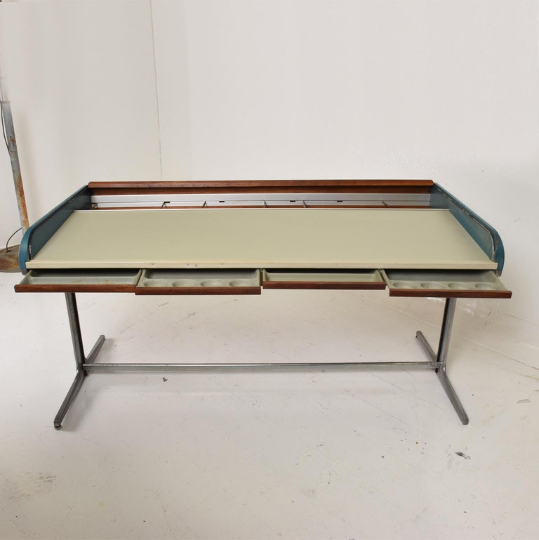 Mid-20th Century Rare Mid-Century Modern Action Desk by George Nelson Robert Propst Herman Miller For Sale