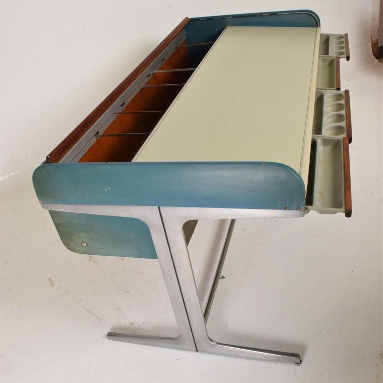 Aluminum Rare Mid-Century Modern Action Desk by George Nelson Robert Propst Herman Miller For Sale