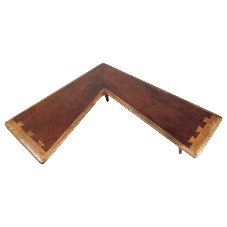 Lane Boomerang Coffee Table: Rare Mid-Century Modern Boomerang Table By Lane For Sale