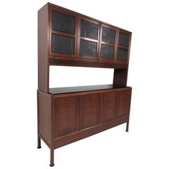 Rare Mid-Century Modern Breakfront Cabinet by Edward Wormley for Dunbar