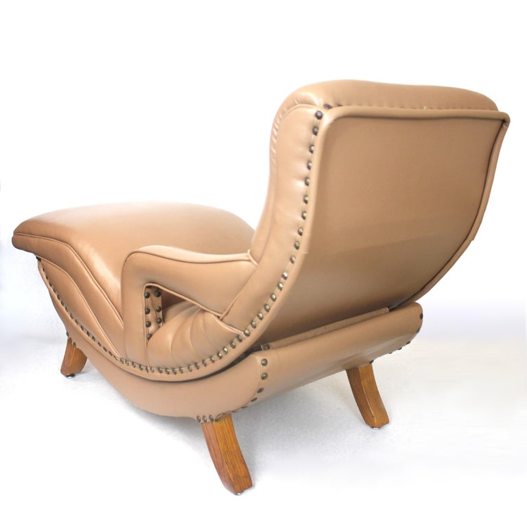 American Rare Mid-Century Modern Child Size Miniature 3/4 Scale Contour Lounge Chair For Sale