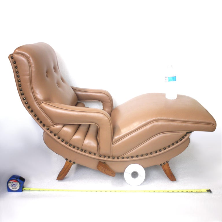 Mid-20th Century Rare Mid-Century Modern Child Size Miniature 3/4 Scale Contour Lounge Chair For Sale