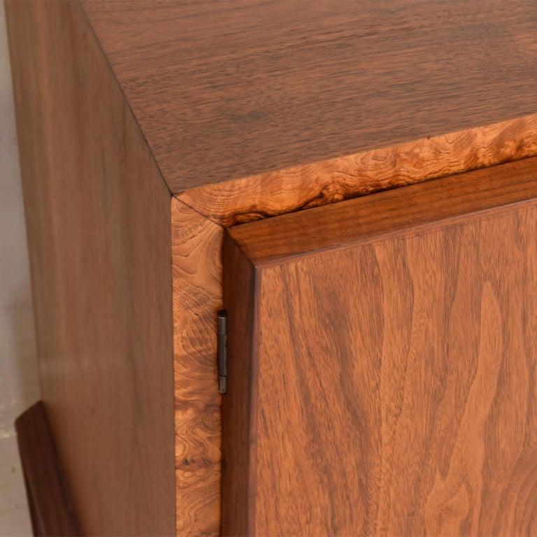 American Rare Mid-Century Modern Dresser by Helen Hobey for Baker Walnut, Burl & Rosewood For Sale