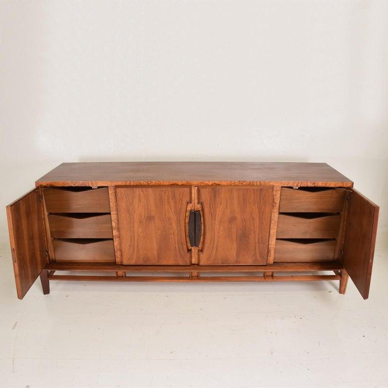 Rare Mid-Century Modern Dresser by Helen Hobey for Baker Walnut, Burl & Rosewood For Sale 1