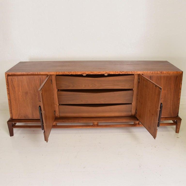 Rare Mid-Century Modern Dresser by Helen Hobey for Baker Walnut, Burl & Rosewood For Sale 2