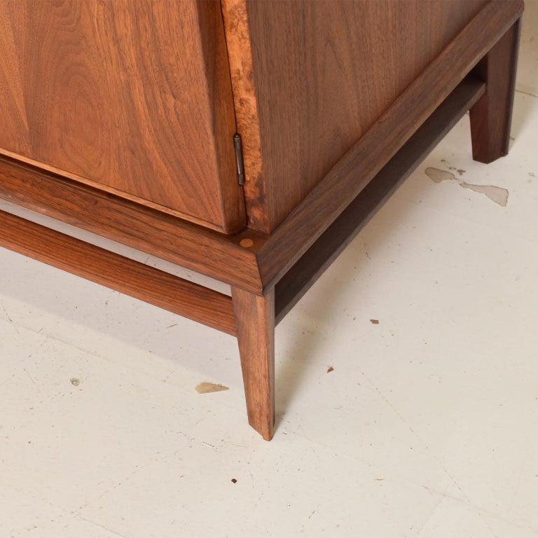 Rare Mid-Century Modern Dresser by Helen Hobey for Baker Walnut, Burl & Rosewood For Sale 4