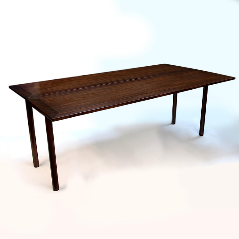 American Rare Mid-Century Modern Thistle Convertible Console Dining Table by Kittinger For Sale