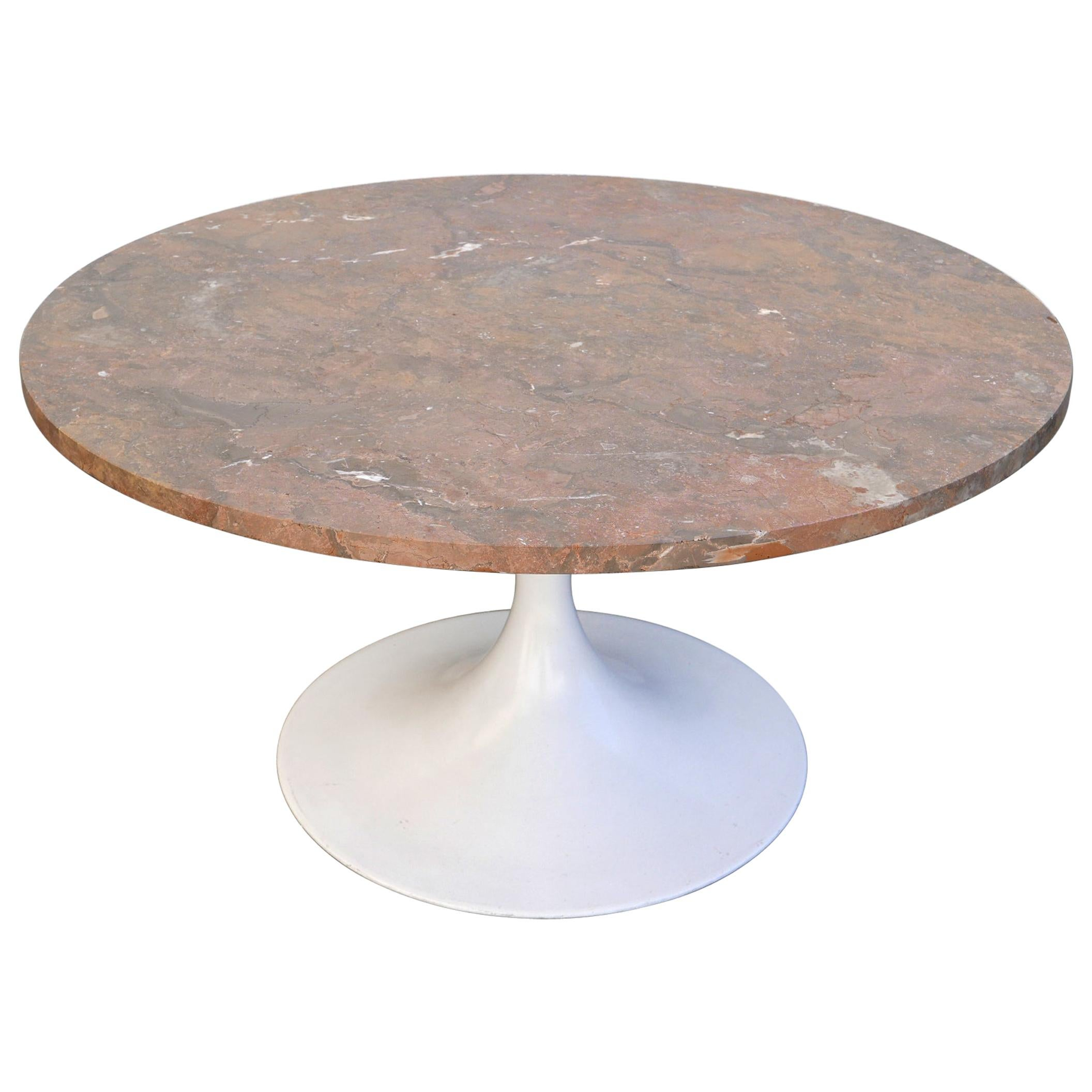 Rare Mid-Century Modern Tulip Base Marble Coffee Table by Honsel, Germany, 1960s