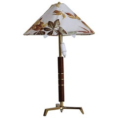 Rare Midcentury Tripod Table Lamp Attributed to J. T. Kalmar, Austria, 1950