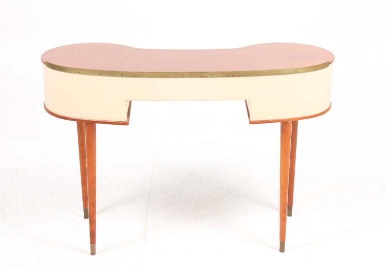 Rare Midcentury Vanitie Designed by Halvdan Petterson, Made in Sweden In Good Condition For Sale In Lejre, DK