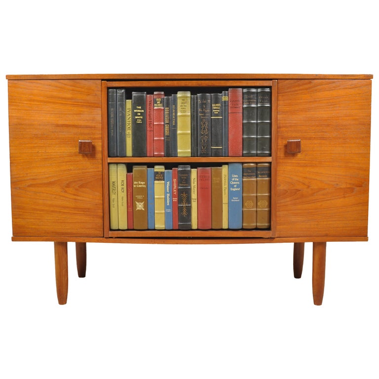 Rare Mid Mod Drinks Cabinet With Hidden Bar For