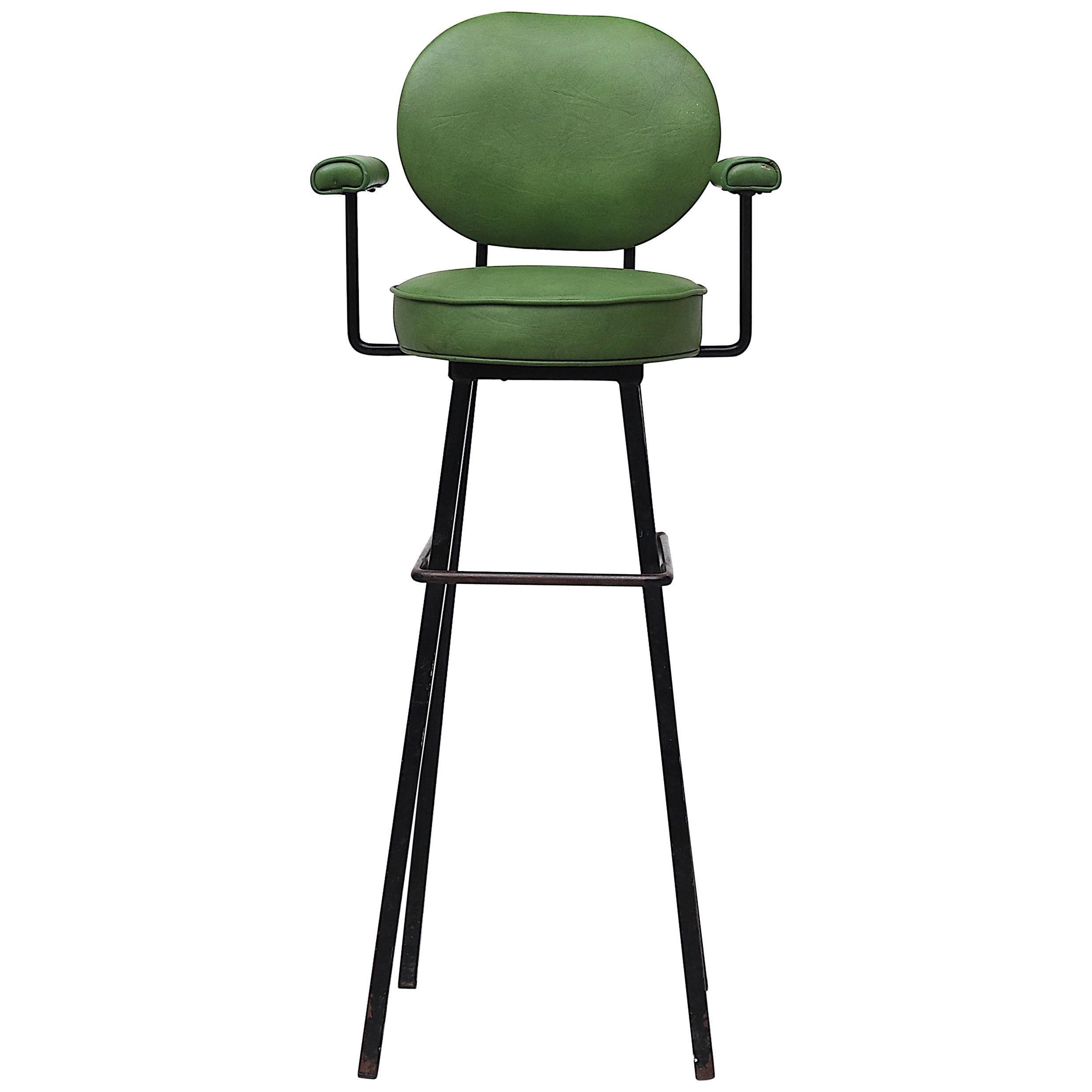 Rare Midcentury Child's High Chair by Kembo