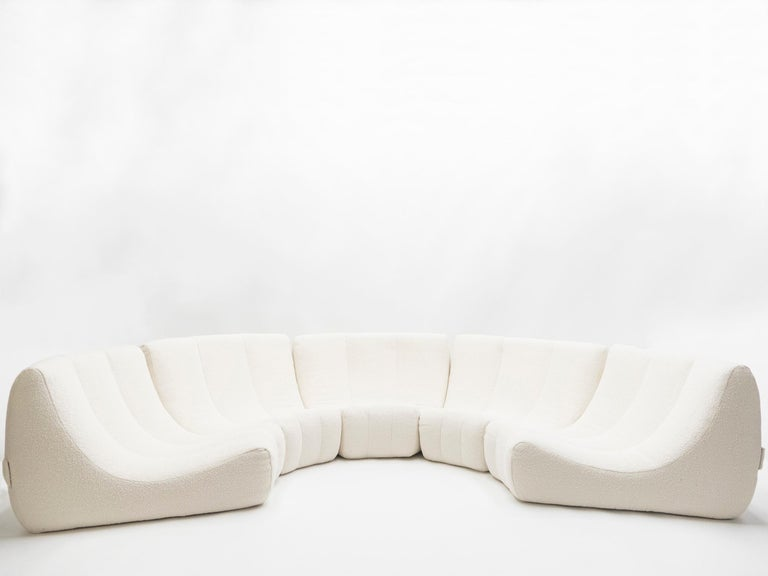 Rare Midcentury Circle Sofa by Michel Ducaroy Model Gilda, 1972 In Excellent Condition For Sale In Paris, FR