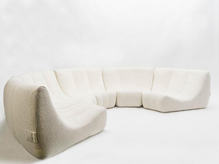 Late 20th Century Rare Midcentury Circle Sofa by Michel Ducaroy Model Gilda, 1972 For Sale