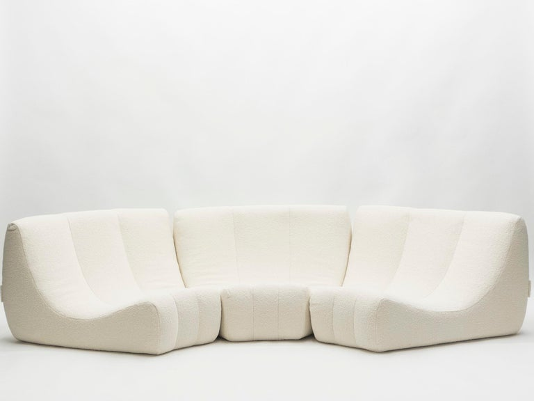 Rare Midcentury Circle Sofa by Michel Ducaroy Model Gilda, 1972 For Sale 1
