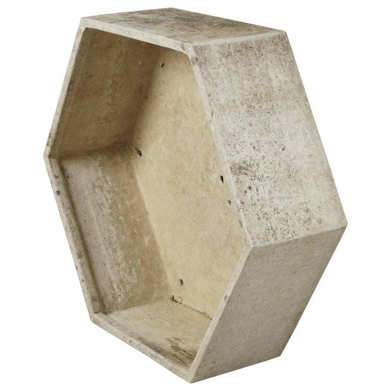 Rare Midcentury Concrete Planter by Willy Guhl, Switzerland, circa 1950 For Sale