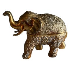 Rare Midcentury Elephant Music Box from Japan
