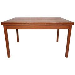 Rare Midcentury Extendable Teak Table