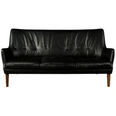 Rare Midcentury Leather Sofa Designed by Arne Vodder, Denmark, circa 1960