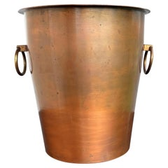 Rare Midcentury Modern Design Double Wall Copper Champagne / Wine Cooler, Marked