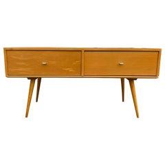 Rare Midcentury Modern Low Two-Drawer Dresser by Paul McCobb Blonde