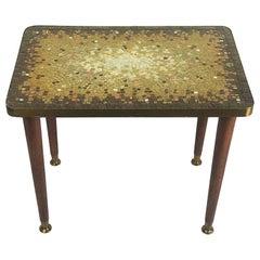 Rare Midcentury Mosaic Side Table by Genaro Alvarez