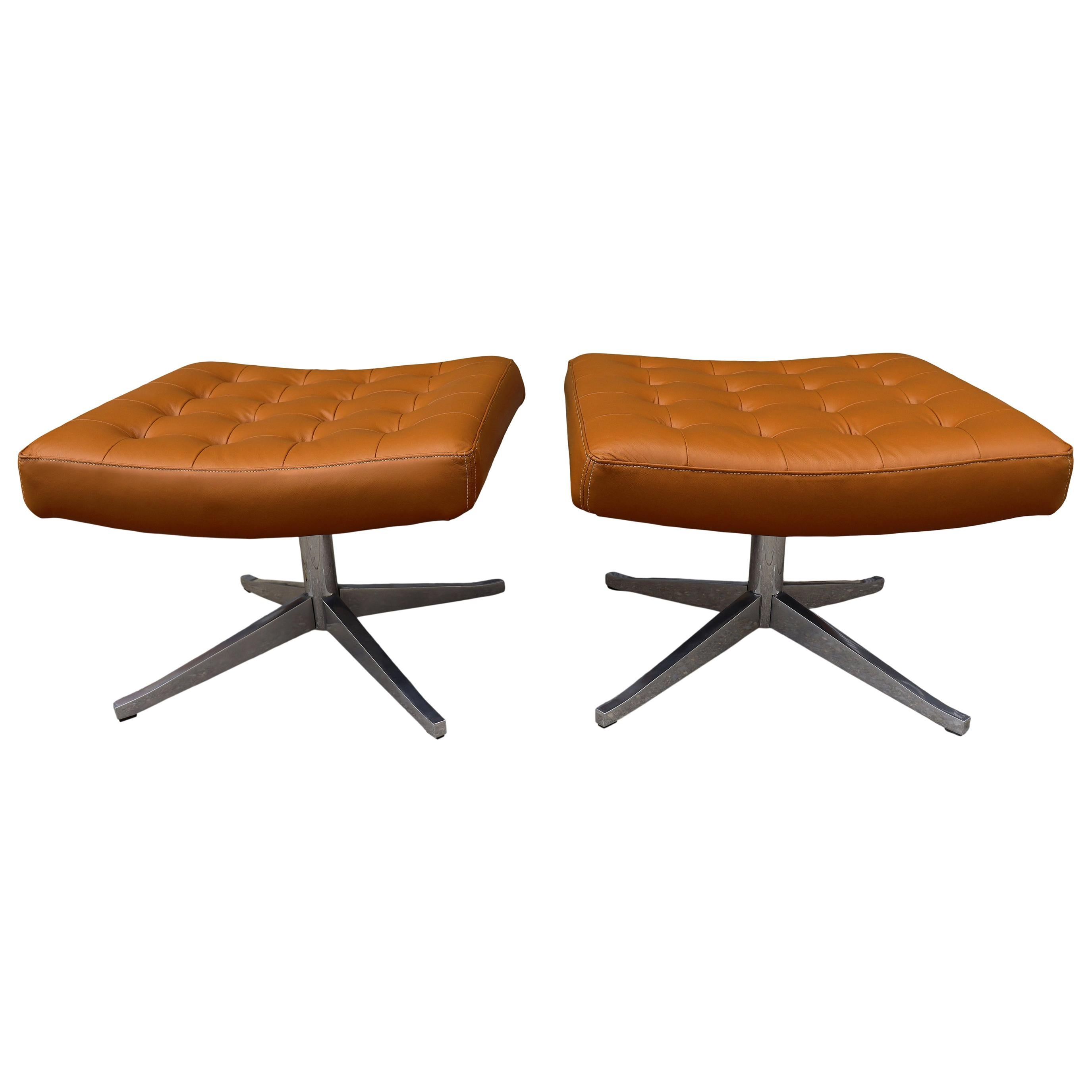 Rare Midcentury Ottoman or Stool for Knoll