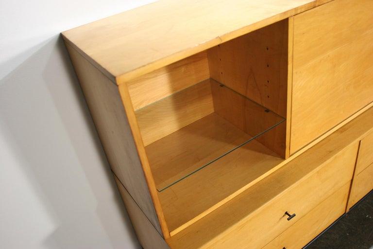 Rare Midcentury Paul McCobb #1562 Drop Lid Desk W/Organizer Maple T Pulls For Sale 2