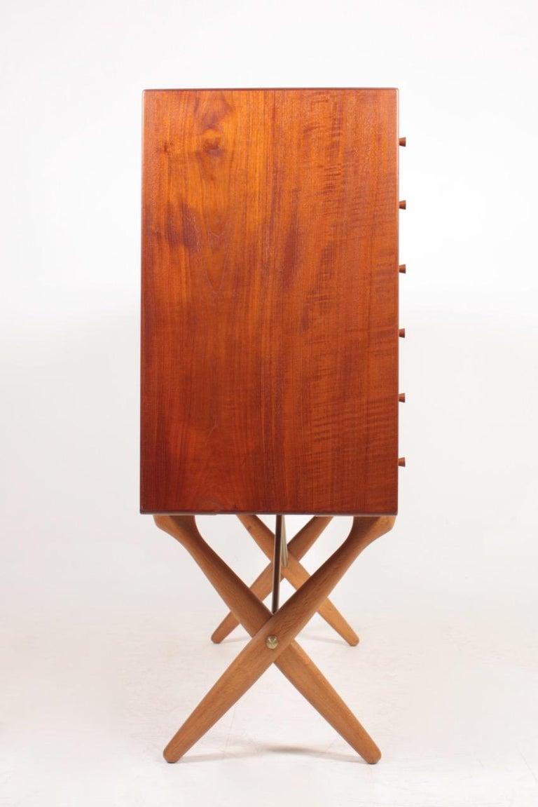 Rare Midcentury Sideboard in Teak Model CH-304 by Hans Wegner, 1950s For Sale 6