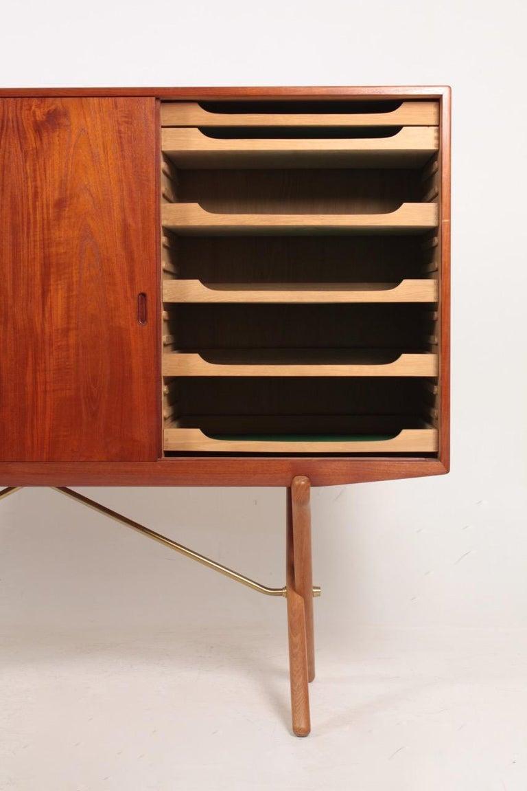 Danish Rare Midcentury Sideboard in Teak Model CH-304 by Hans Wegner, 1950s For Sale