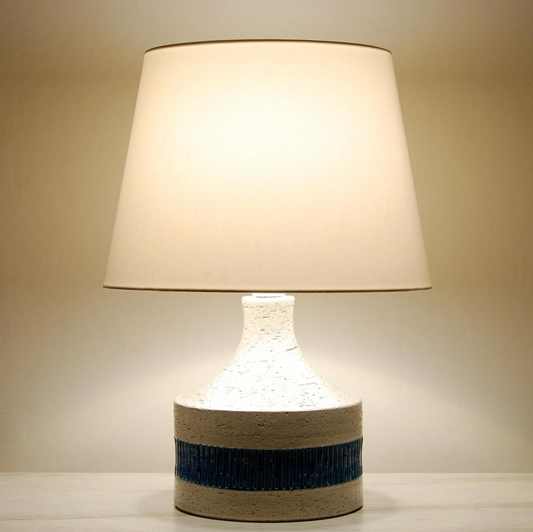 Rare Midcentury Table Lamp by Aldo Londi for Bitossi, 1960s In Good Condition In Stockholm, SE
