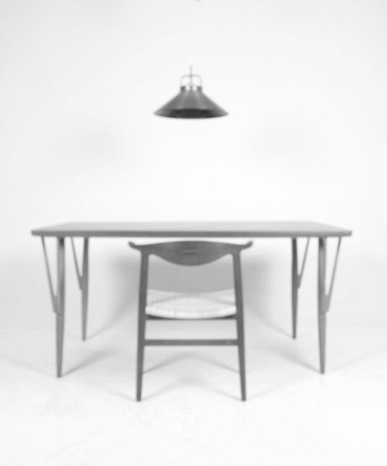 Rare Midcentury Work Table in Teak and Oak by Hans Wegner, 1950s 7