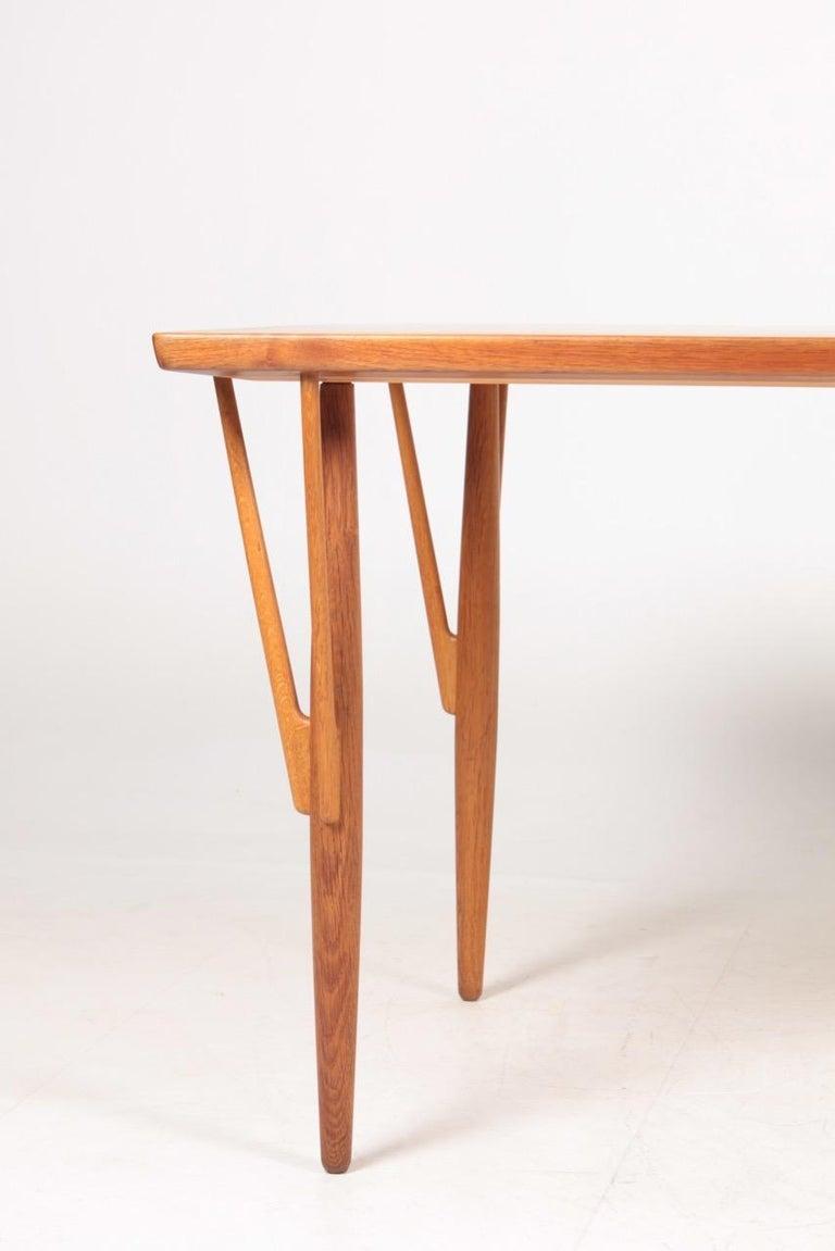 Danish Rare Midcentury Work Table in Teak and Oak by Hans Wegner, 1950s For Sale